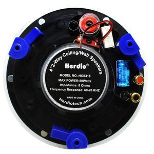 Image 4 - Herdio 4 inç 160 watt 2 yollu gömme montaj duvar tavan 2 yollu ev ses hoparlör sistemi için banyo mutfak ev 3 çift