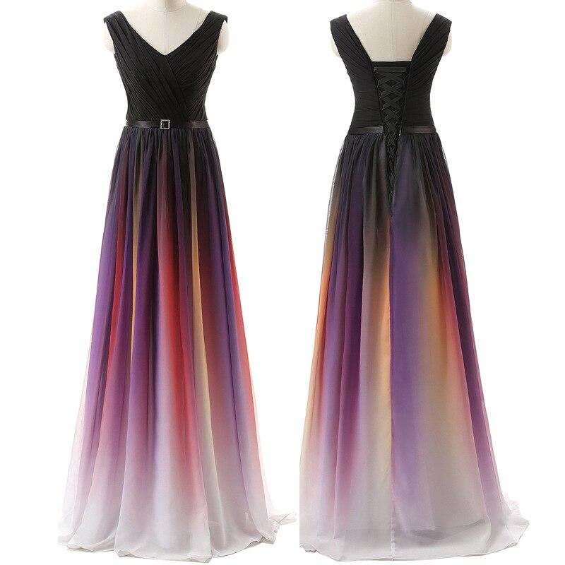 Luxe formel longue robe de soirée femmes été 2019 élégant Sexy col en V robe de bal Maxi robes de grande taille mince en mousseline de soie Bandage robe
