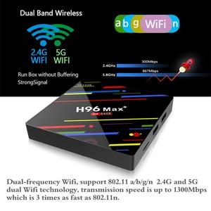 Image 5 - HAAYOT H96 MAX + Tvbox Android 9,0 4G 64G Smartbox Set Top Box RK3328 TV Box Google Control de voz/2,4/5G Wifi 4K Media Player