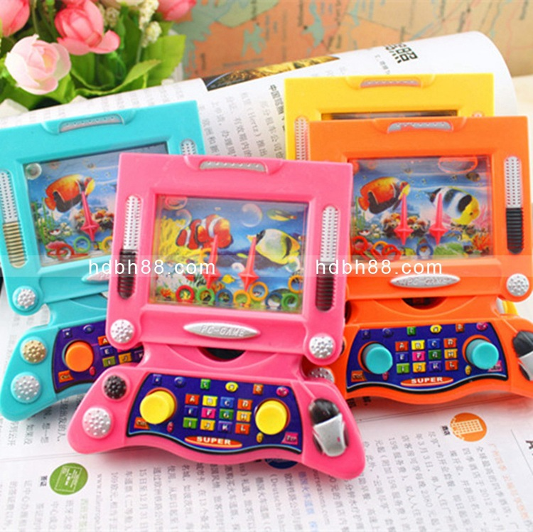 Hot Selling Old Nostalgic Computer Water Machine Toy Water Throw The Circle Game Console Science Intelligence CHILDREN'S Toy