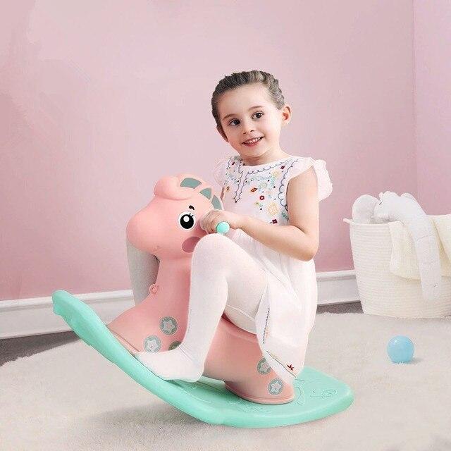 Baby Child Animal Rocking Horse Multifunction Rocking Chair Trojan Toy Baby Game Baby Walker Indoor Girl Gift 2