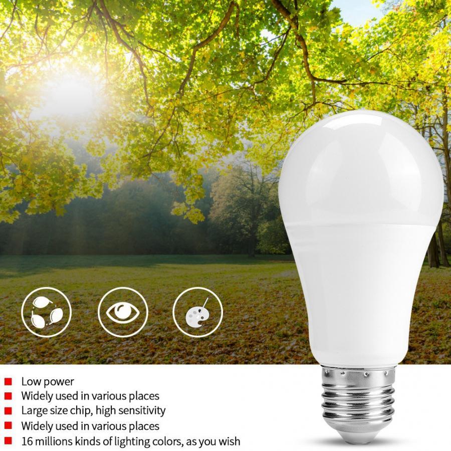 WiFi Ligh AC 220V 230V 240V 2pcs E26 Socket Multi Functional 7W WIFI LED Lamp Intelligent RGB Multiple Colors Light Bulb