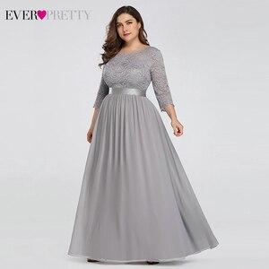 Image 4 - Vestido longo elegante de noite, vestido formal de festa com manga longa e laço para casamento 2020