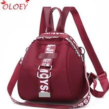2019 new Oxford Backpacks Women Waterproof Backpack For Teenager Girls Large Capacity Rucksack Femines School Bags Ladies