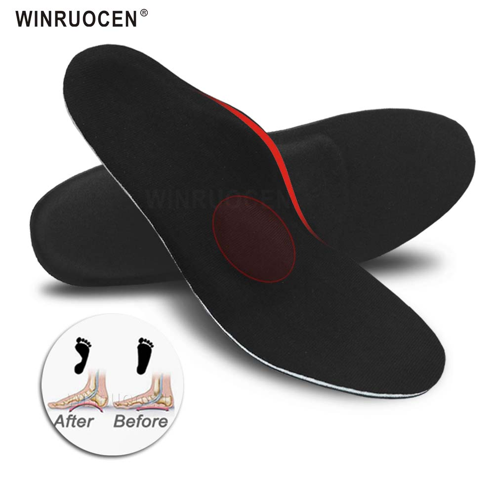 WINRUOCEN High Quality Orthotic Insoles Arch Support Plantar Fasciitis Flat Feet Pain Pronation For Men And Women Inserts Pads