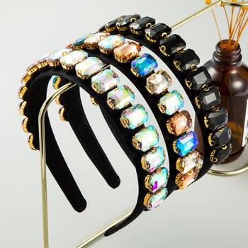 Vintage Luxury Sparkly Full Crystal Pearl Hairband  4