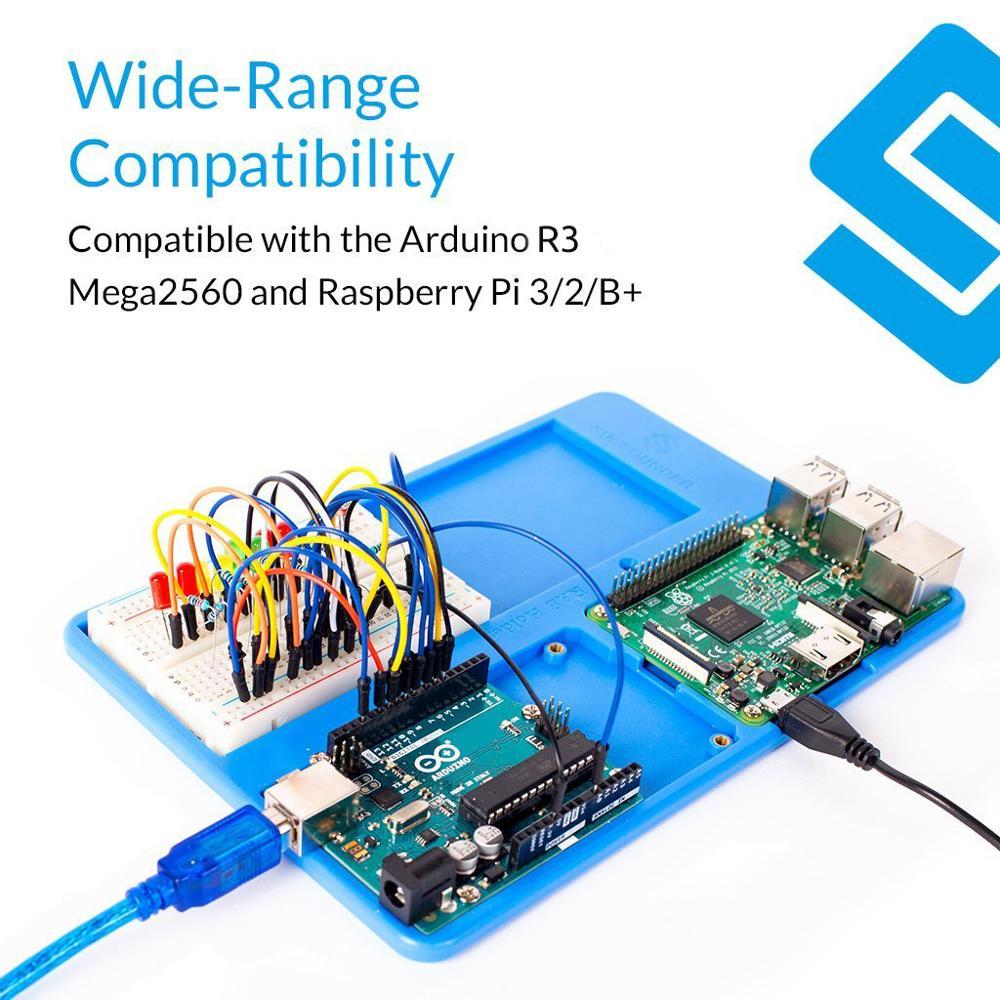 SunFounder RAB Raspberry Pi 3 Holder 5 In 1 Base Plate Case For Raspberry Pi 3B+,3 Model B, 2 Model B+ For Arduino