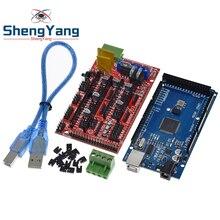 ShengYang Mega 2560 R3 Mega2560 REV3 + 1 adet rampaları 1.4 denetleyici için 3D yazıcı arduino kiti Reprap mendel prusa