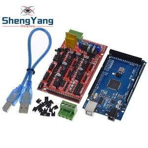 Image 1 - ShengYang Mega 2560 R3 Mega2560 REV3 + 1 adet rampaları 1.4 denetleyici için 3D yazıcı arduino kiti Reprap mendel prusa