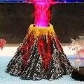 Искусственные смолы вулкан для аквариума украшения камень аквариум извержение вулкана орнамент Рок Пещера используется с воздушным насос...