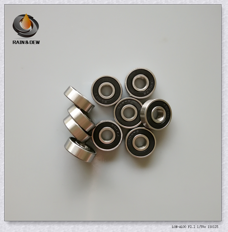 10Pcs 608 RS 8x22x7 mm ABEC-7 Deep Groove Steel Wheel Bearings Skateboard Scooter Car Shafts image