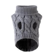 AUGKUN Pet Sweater Cat Sweater High Collar Dog Clothes Pullover Cute Pet Warm Clothes Kawaii Cartoon Puppy Sweater Coat