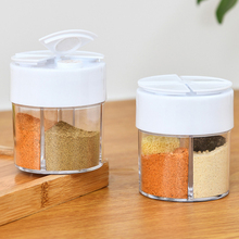 4 Compartments Spice Storage Spice Jar Rack Seasoning Box Salt And Pepper Bottle With Lid Kitchen Spice Storage Bottle Tools