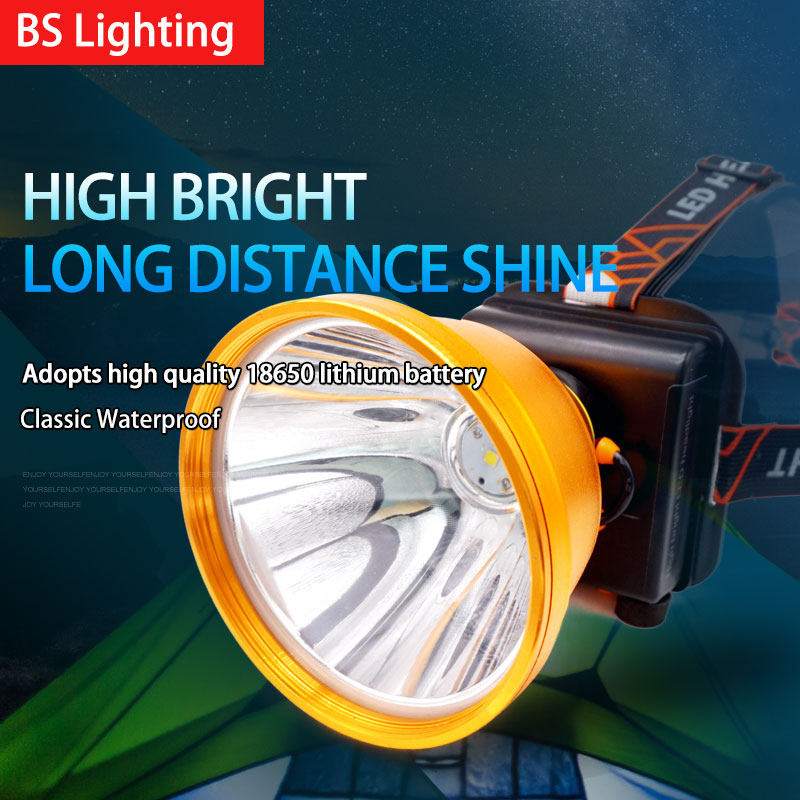Free Shipping 5 Inch Aluminum Headlight Flashlight Torch Rechargeable Work Light Portable Small Headlamp Fishing and Hunting