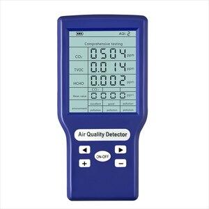 Digital CO2 Sensor PPM Meters Mini Carbon Dioxide Detector Gas Analyzer Air Quality Monitor Gas Detector TVOC HCHO PM2.5 Meter