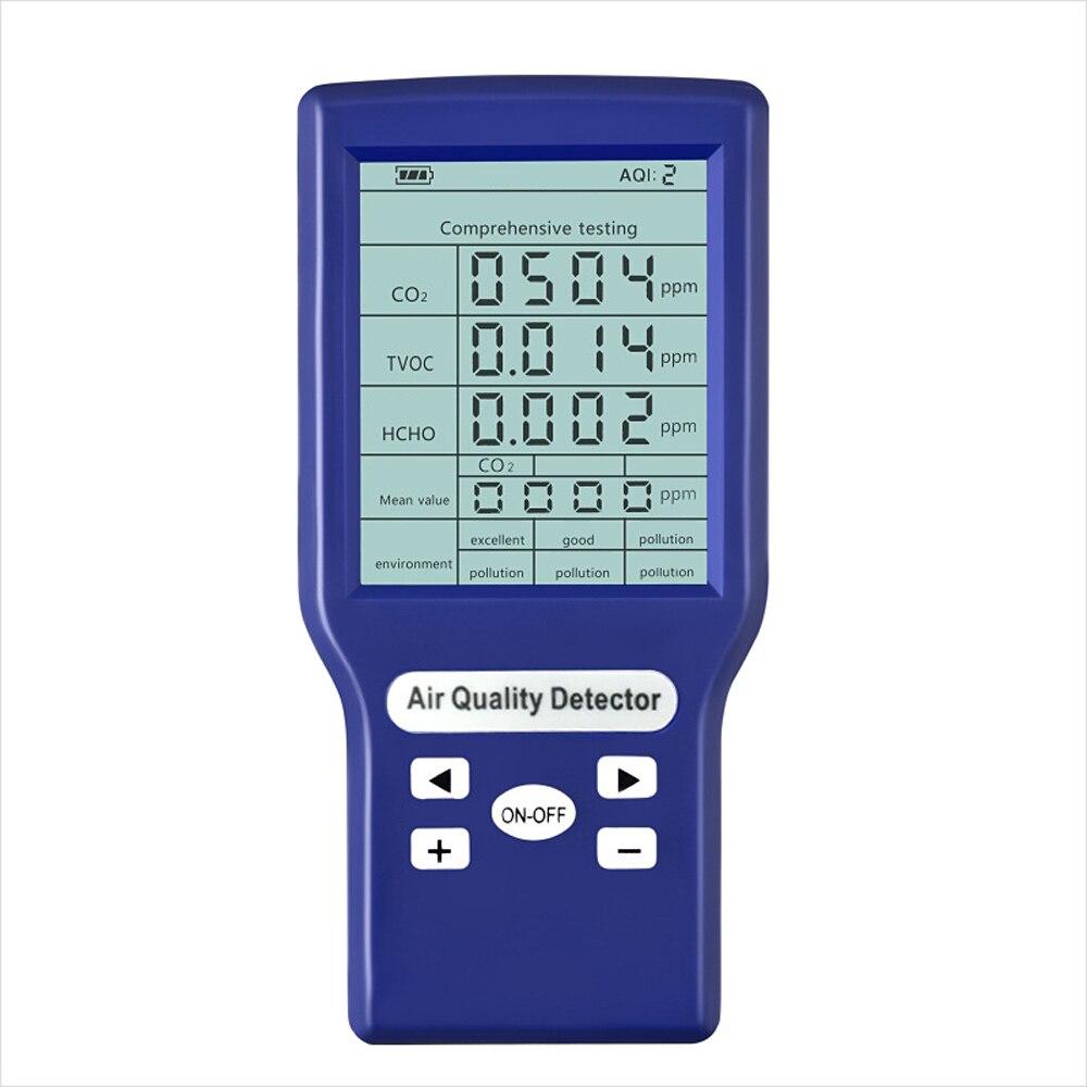 Digital Sensor de CO2 ppm Metros Mini Medidor De co2 Dióxido De Carbono Detector de Gás Detector de Gás Analisador de Monitor de Qualidade Do Ar