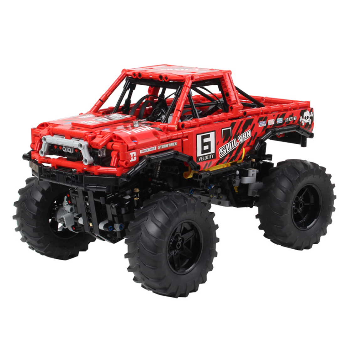 1760Pcs 1:10 Mechanical Off-Road Vehicle MOC Small Particle High Level Construction Building Kit Model Educational Toy For Kids