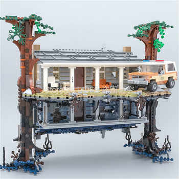 Stokta 75810 Stranger şeyler torna dünya baş aşağı 25010 2499 adet yapı taşları tuğla seti oyuncaklar