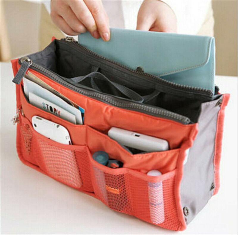 Casual Women Lady Travel Insert Handbag Organiser Toiletry Cosmetic Bag Purse Large Liner Organizer Tidy Bag