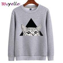 2019 Autumn Winter Women Sweater Fashion Cartoon Cat Loose Casual Sweatshirt For Female Hoodies and