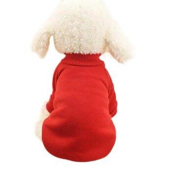 Suéter de invierno cálido para mascotas ropa de dos pies para perro pequeño lana adecuada para perro gato otoño