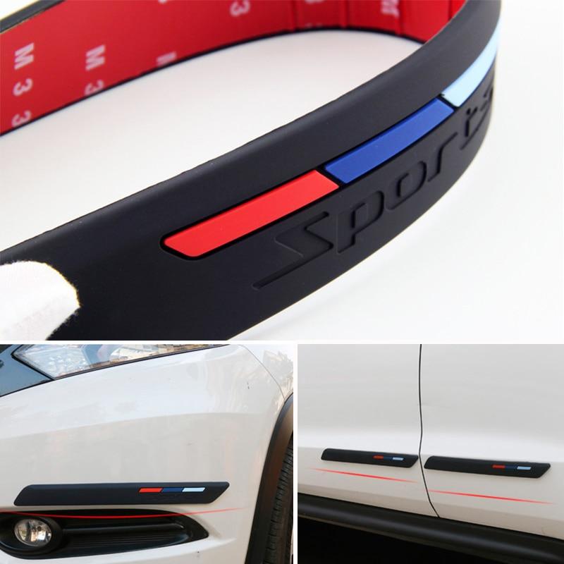 LetCart Corner Guard Scratch Sticker-Silver Chrome Auto Front Rear Bumper Protector