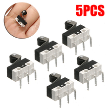 цена на 5pcs/lot 3-Pin Actuator Micro Switch Mini Roller Lever Actuator Microswitch SPDT Sub Miniature Electrical Switch