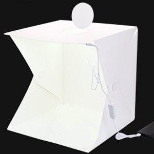 Image 2 - Baolyda 2LED Photo Light Box Photography Studio Soft Box Lighting 40cm Mini Fotostudio Fotografia Photobox with 4color Backdrops