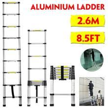 Ladder Telescopic Extension Step Retractable Aluminum Herringbone Industrial