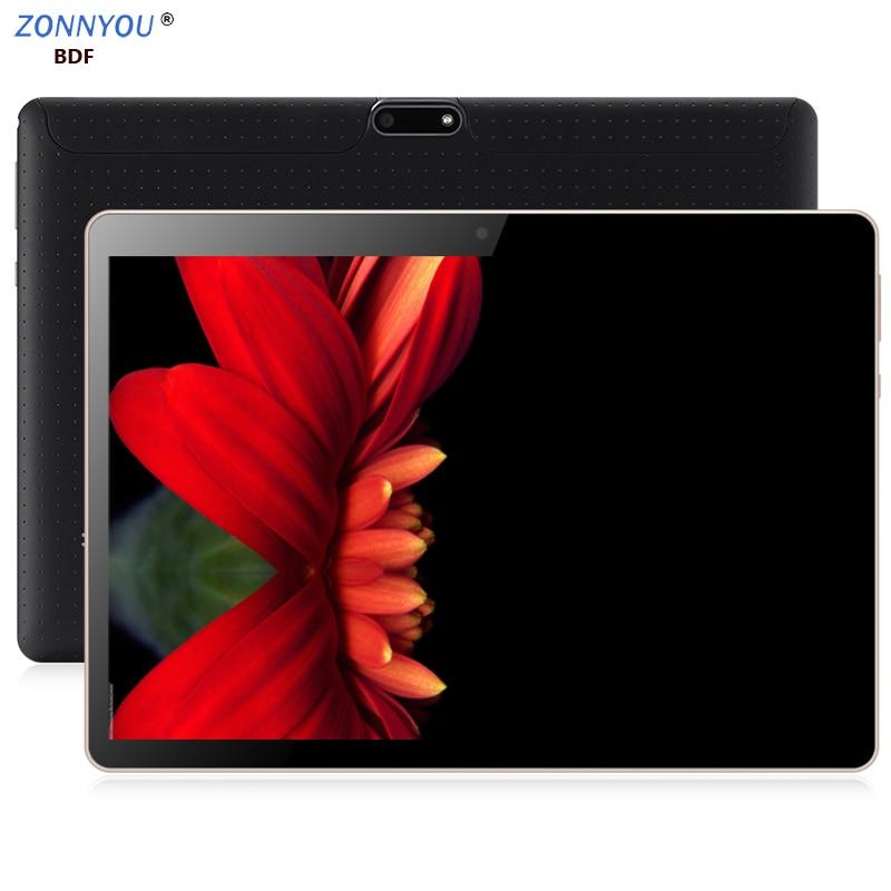 10/1 en tablette PC Android 8.0 4G/3G appel téléphonique tablette PC octa-core 6GB Ram 128GB Rom intégré 3G Bluetooth Wi-Fi GPS tablette PC