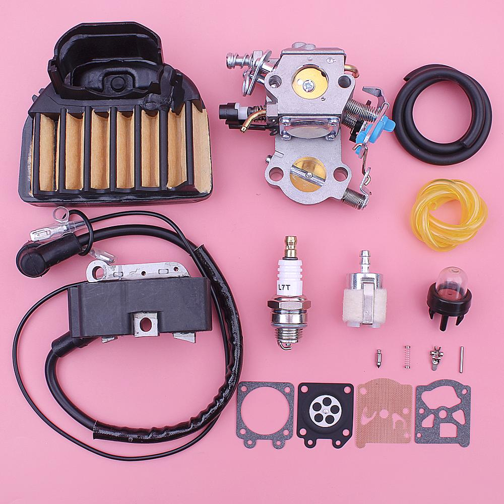 Carburetor Ignition Coil Repair Kit For Husqvarna 455 460 Rancher Jonsered CS2255 Chainsaw 544227401 544047202 Air Fuel Filter