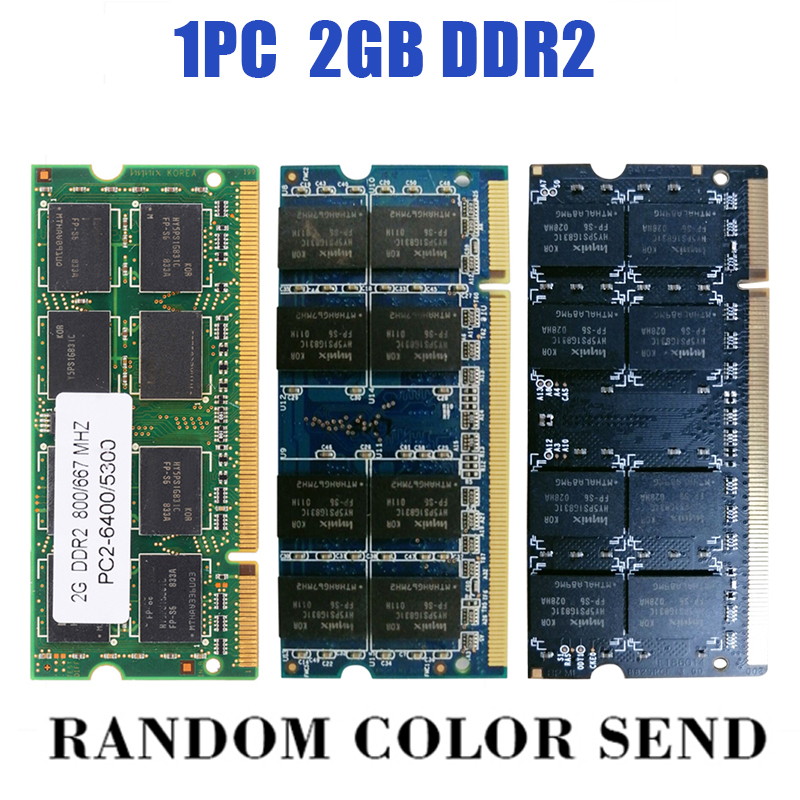 Купить с кэшбэком 1PC Low-Density 2GB Notebook RAM DDR2 200Pin Laptop Memory SO-DIMM Compatible To PC2 6400/5300 800/667MHZ