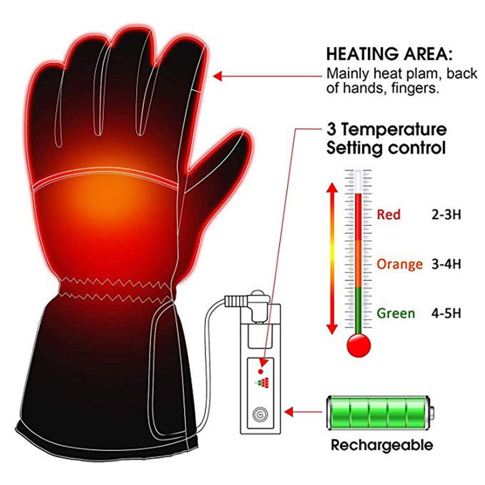 Heated Gloves Usb Men And Women Electric Gloves Heating Gloves Outdoor Camping Hiking Bike Ski Heating Gloves Handschoenen 30S18