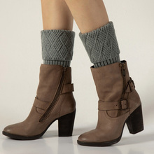 Leg Warmer Socks Boot Gaiters Crochet Knit Knee-High Winter Women Fashion Solid 1-Pair