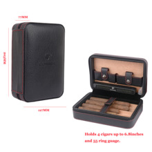 COHIBA  Cigar Case Leather Cedar Lined Travel  Mini Humidor