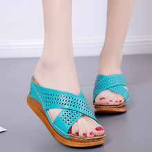 Outdoor Slipper Shoes Platforms High-Heels Casual Beach New-Fashion Thick