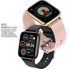 """2021 nuovo P32 Smart Watch uomo donna 1.69 """"pressione sanguigna frequenza cardiaca Fitness Tracker Smartwatch Health Tracker polsino sportivo"""