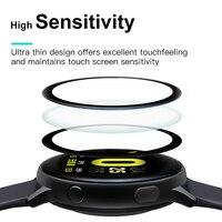 20D Volle Abdeckung Gebogene Kante Schutz Film Für Samsung Galaxy Uhr Aktive 2 40mm 44mm Weiche Display-schutzfolien anti-fingerprint