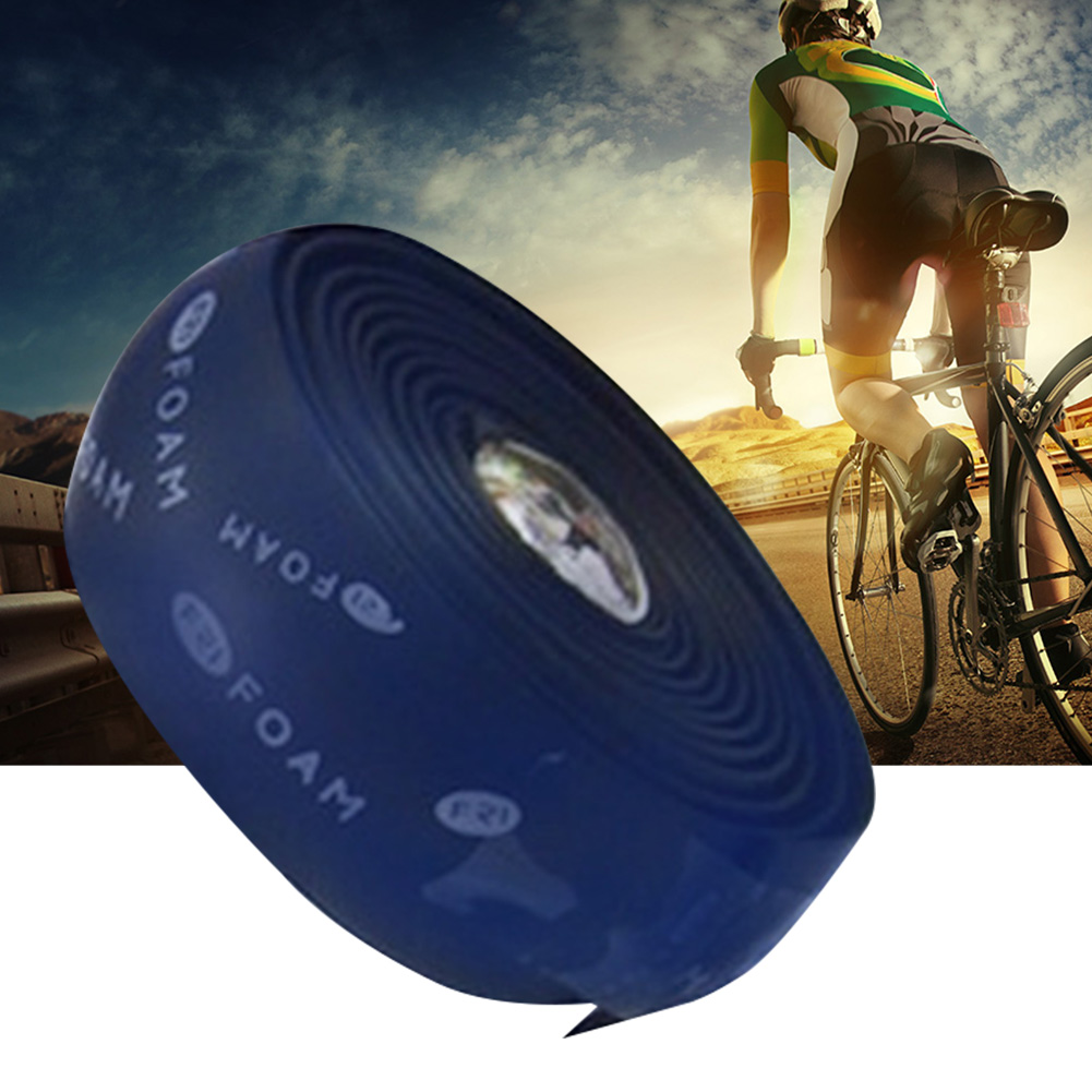 Handle Bar Tape Extensible Comfortable Winding Bike Mount High Density Outdoor Non Slip Rubber Cycling Wrap Shock Absorb