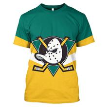 цены на 2019 LBG 3D Print Anaheim Duck T-Shirt Men and Women Fashion Casual T-Shirt Men's Sports Top Hockey Harajuku Short Sleeve Top  в интернет-магазинах