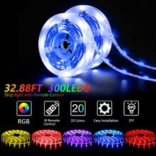 Led Strip Lights with RF Remote RGB 5050 12V Power Color Cha