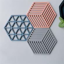 Полимерная смола подстаканник форма шестиугольная бетонная чашка коврик Силиконовый Лоток Плесень ручной работы цемент горшок держатель формы