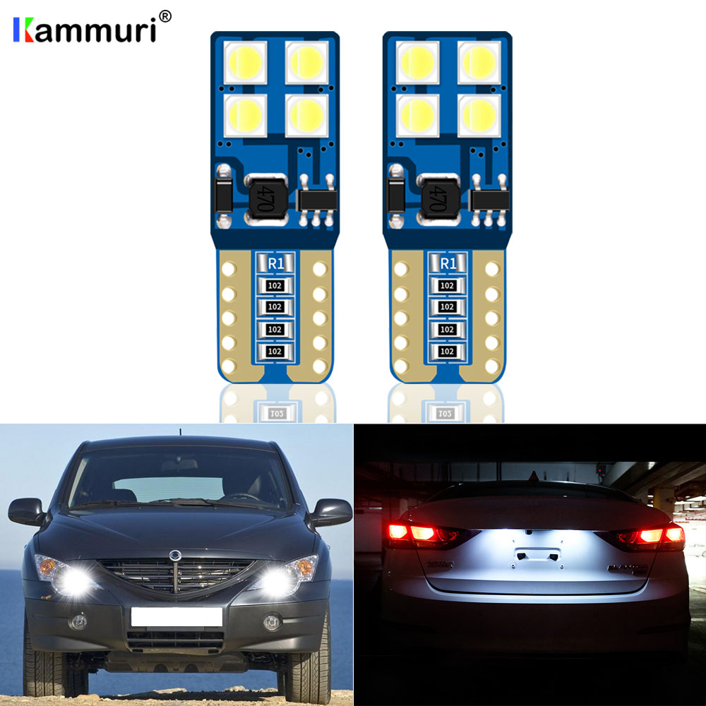 (2) Canbus T10 W5W Parking LED Light For <font><b>Ssangyong</b></font> Kyron Actyon Sport Korando Rexton 1 2 Musso Stavic Rodius <font><b>Tivoli</b></font> ISTANA image