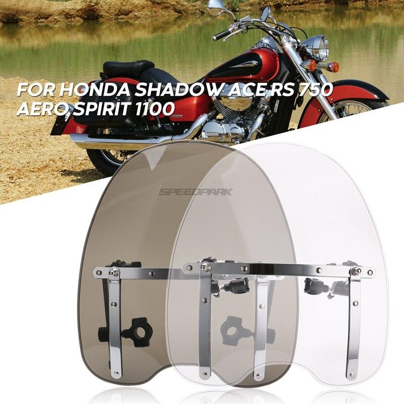Moto Bike Motorcycle Motorbike Windshield Windscreen Clear For Honda Shadow ACE RS 750 Aero Spirit 1100