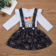 Get more info on the 2019 Fashion Halloween Newborn Infant Baby Girls Long Sleeve Letter Print Romper+Print Dress Outfits Sets