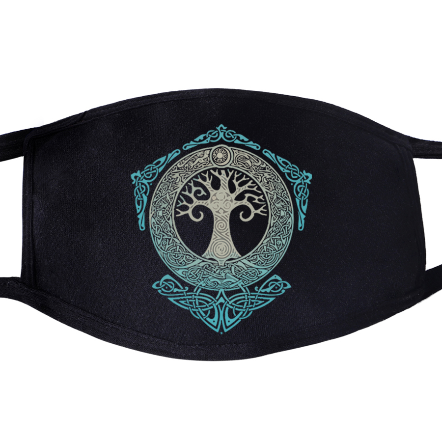 Odin Vikings Face Mask Mouth Fabric Anti Dust Son Odin Athelstan Valhalla Unisex Black Muffle Dustproof Protective Cover Masks