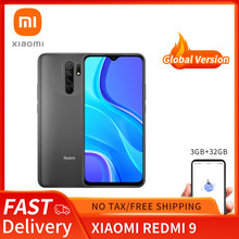Redmi 9 Global Version 3GB+32GB Xiaomi SmartPhone Helio G80 Octa Core 13MP Quad Camera 6.53