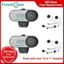 FreedConn TCOM-SC Motorcycle Bluetooth Helmet Headset 800M Wireless Motorbike LCD FM Radio Intercom Headphone 2 in 1 BT Earphone