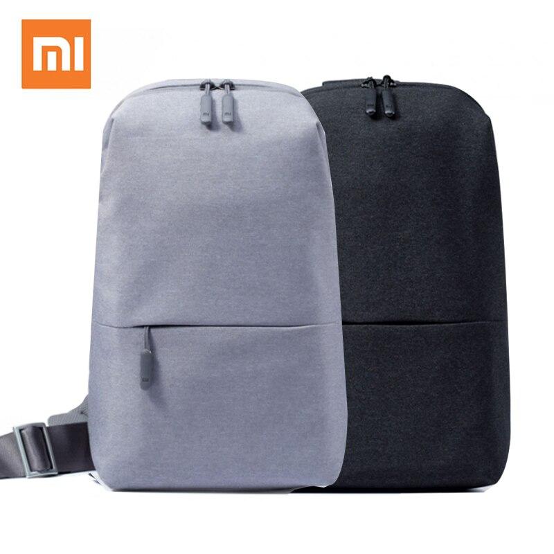 100% Xiaomi Mi Rucksack 4L Polyester Bag Städtischen Freizeit Sport Brust Pack Taschen Männer Frauen Kleine Größe Schulter Unisex Rucksack