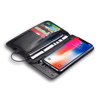 Akumulator portfel 6800 Ma mobilne źródło zasilania bezprzewodowe ładowanie przenośna przenośna linia urządzenie ładujące torba na karty portfel tanie i dobre opinie CN (pochodzenie)
